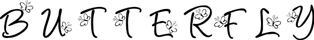 Preview image for KR Butterfly Font