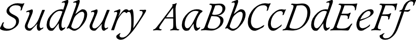Preview image for Sudbury Light Italic