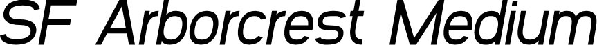 SF Arborcrest Medium Oblique