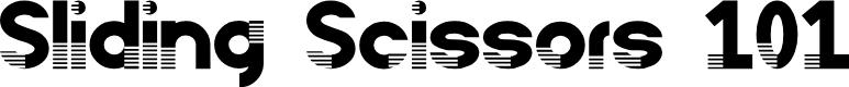 Preview image for Sliding Scissors 101 Font