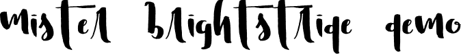 Preview image for Mister Brightstride Demo Font