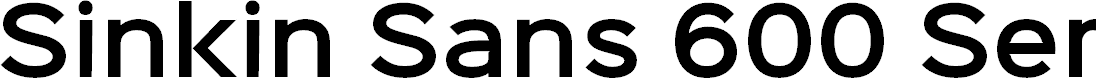 Preview image for Sinkin Sans 600 SemiBold