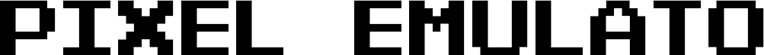 Preview image for Pixel Emulator Font