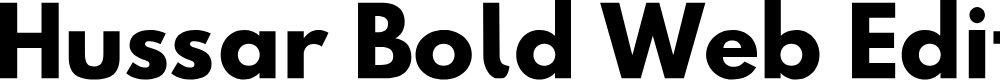 Preview image for Hussar Bold Web Edition Font