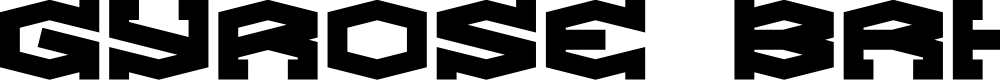 Preview image for Gyrose BRK Font