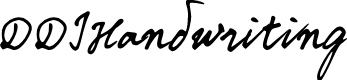 Preview image for DDIHandwriting Font