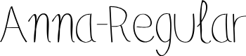 Preview image for Anna-Regular Font