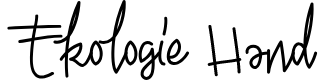 Preview image for Ekologie Hand PERSONAL USE Font
