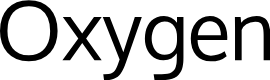Preview image for Oxygen Font