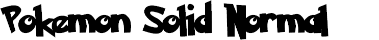 Preview image for Pokemon Solid Normal Font