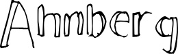 Preview image for Ahnberg Font