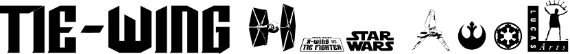 Preview image for TIE-Wing Font