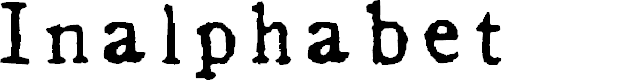 Preview image for Inalphabet Font