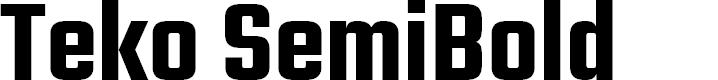 Preview image for Teko SemiBold