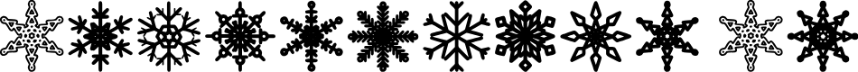 Preview image for Snowflakes St Font