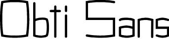 Preview image for Obti Sans Font