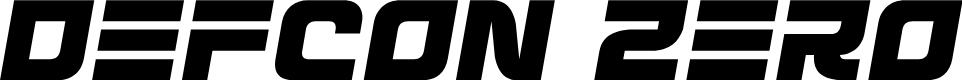 Preview image for Defcon Zero Semi-Italic