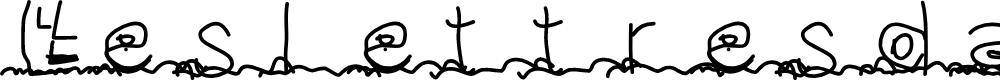 Preview image for Leslettresdadam Font