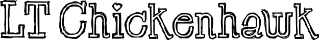 Preview image for LT Chickenhawk Font