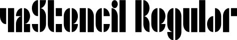 Preview image for 42Stencil Regular Font