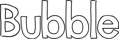 Preview image for Bubble Font