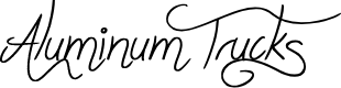 Preview image for Aluminum Trucks Font