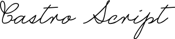 Preview image for Castro Script PERSONAL USE ONLY Font