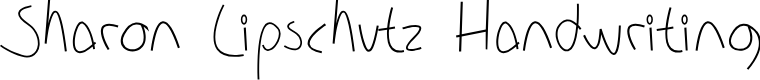 Preview image for Sharon Lipschutz Handwriting Font