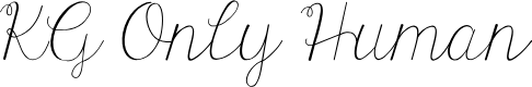 Preview image for KG Only Human Font