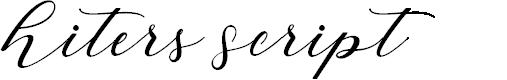 Preview image for HitersScript Font
