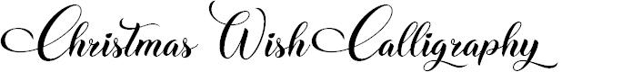 Preview image for Christmas Wish Calligraphy Calligraphy Font