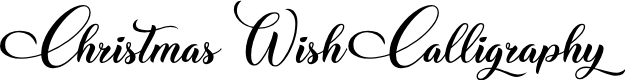 Preview image for Christmas Wish Calligraphy Calligraphy