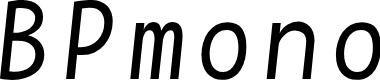 Preview image for BPmono Italic