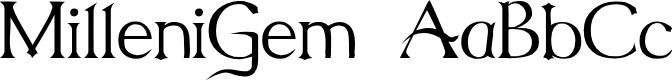 Preview image for MilleniGem Font
