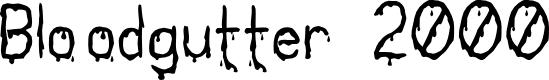 Preview image for Bloodgutter 2000 Font