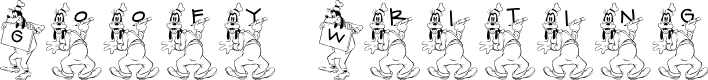 Preview image for JLR Goofy Writing Font