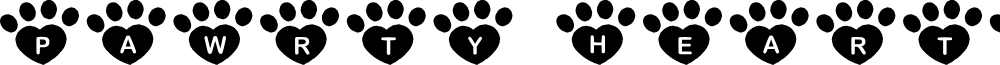 JLR Pawrty Hearty font