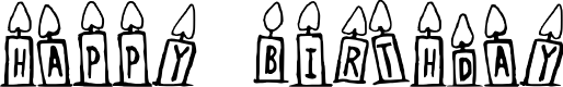 Preview image for Happy Birthday Regular Font