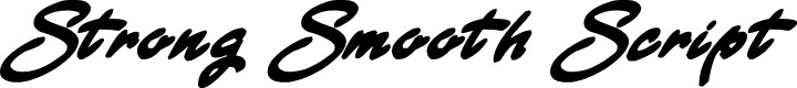 Preview image for Strong Smooth Script Font