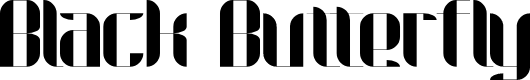 Preview image for Black Butterfly Regular Font