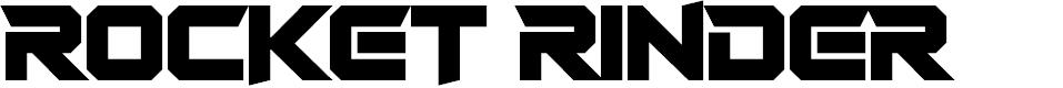 Preview image for Rocket Rinder Font