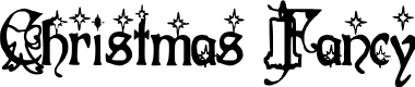 Preview image for Christmas Fancy Font