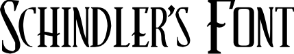 Preview image for Schindler's Font