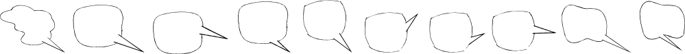 Preview image for Freaky Comment Balloons LT Font