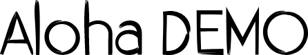 Preview image for Aloha DEMO Font
