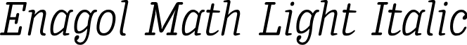 Enagol Math Light Italic