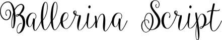 Preview image for Ballerina Script Font