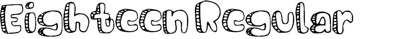 Preview image for Eighteen Regular Font