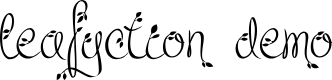 Preview image for Leafyction Demo Font