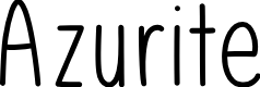 Preview image for Azurite Font